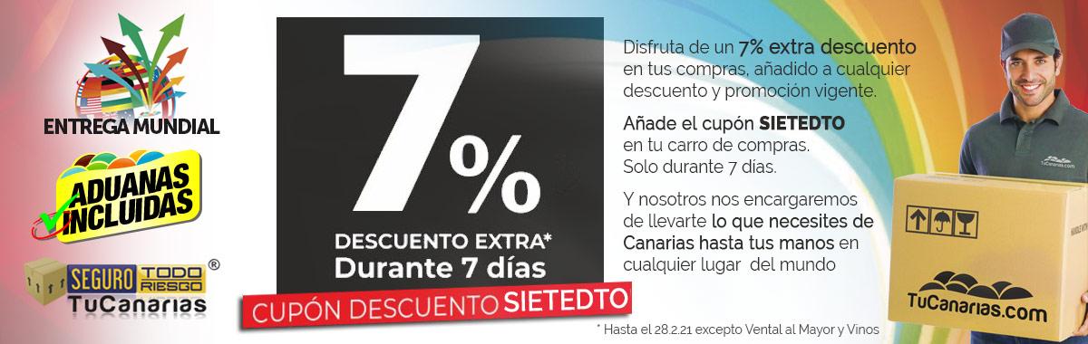 7% Descuento Extra · 7 Días