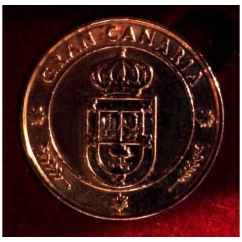 7 Coins CANARY ISLANDS 24k GOLD
