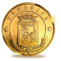 13 Coins Einheit von Teneriffa, Kanarische Inseln. 24K Gold
