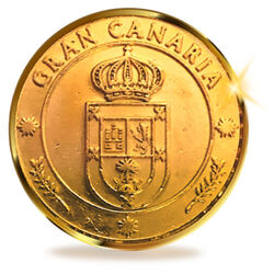 13 Unity Coins from Gran Canaria, Canary Islands. 24 K Gold