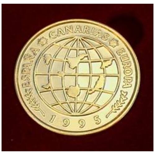 13 Unity Coins from La Palma, Canary Islands. 24K Gold