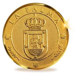 13 Unity Münzen aus La Palma, Kanarische Inseln. 24K Gold