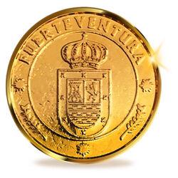 13 Unity Münzen aus Fuerteventura, Kanarische Inseln. 24K Gold