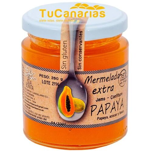 Mermelada Extra Papaya Canarias Isla Bonita 260g