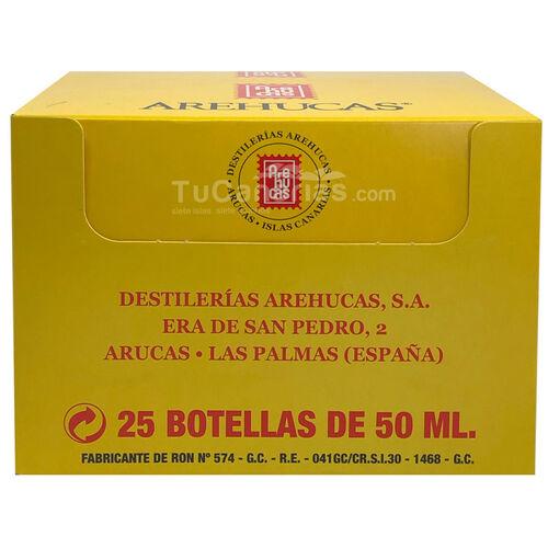 Ron Arehucas Oro Mini Botella Personalizacion Gratis