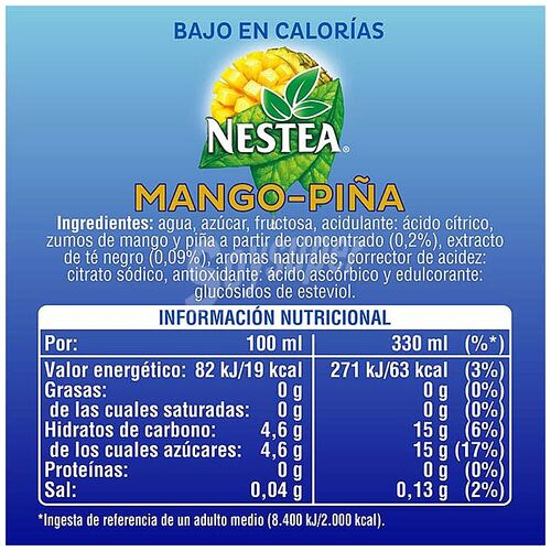 Nestea Mango Piña Exclusivo Canarias 33 cl