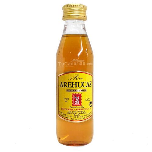 Miniatur-Flasche Arehucas Ron Gold - Kostenloses Personalisierung