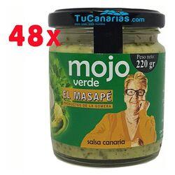 48 units Mojo Green Sauce Artisan El Masape 220g. Gomera