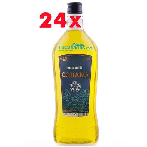 24 botellas Licor Cobana Platano Canarias 1 Litro