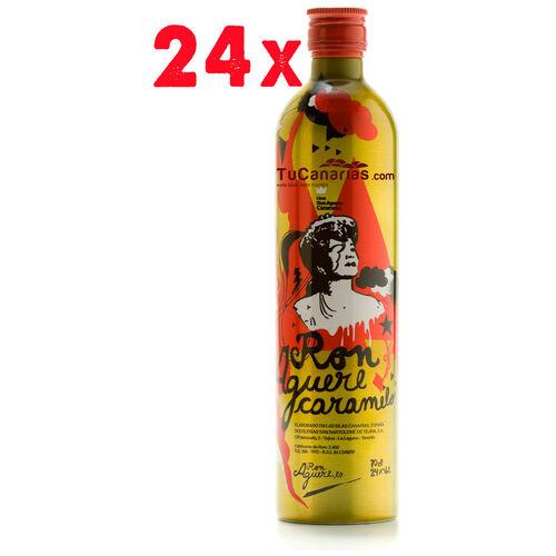 24 Flaschen Karamell Rum Aguere Handwerker