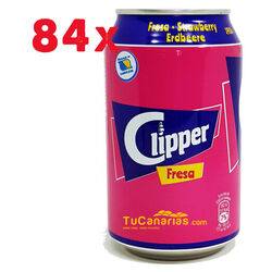 84 latas Refresco Clipper de Fresa 33 cl 1 und.