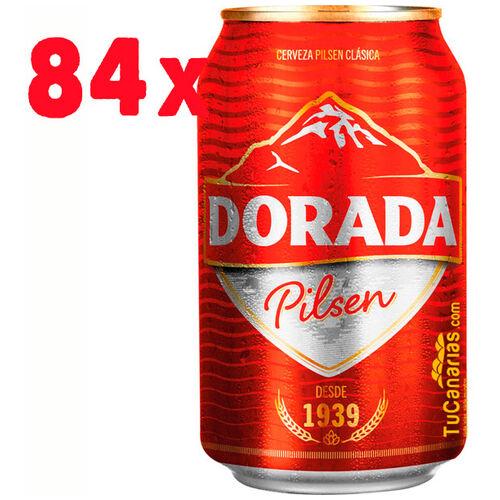 84 latas Cerveza Dorada Pilsen 330