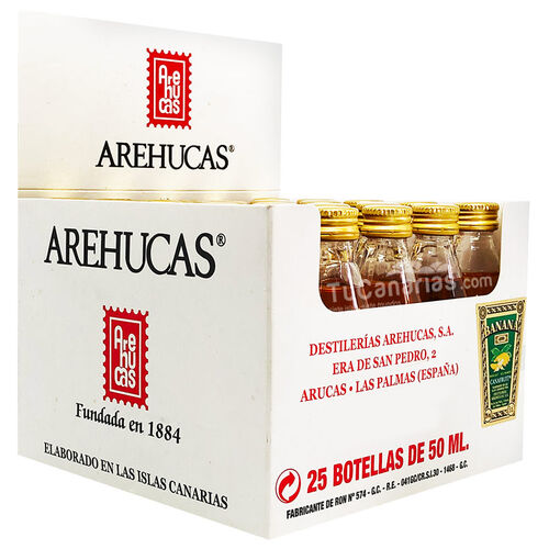 Banana Liqueur Arehucas Mini bottle - Free Customized