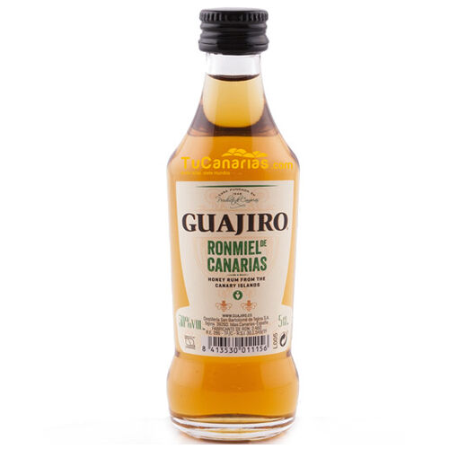 25 mini bottles Honig Rum Guajiro 30% - Kostenloses Personalisierung