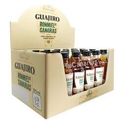 24 Mini botellas Ron Miel Guajiro 30% Personalizacion Gratis