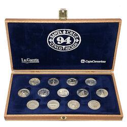 13 coins 500 years SANTA CRUZ TENERIFE Unity Coins - 925 Silver