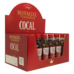 24 Mini Botellas Ron Miel Cocal Personalizadas Gratis 1 und.