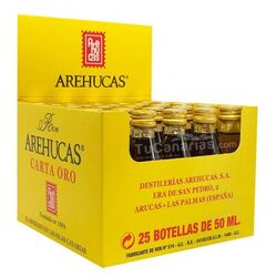 25 mini bottles rum arehucas gold free customized