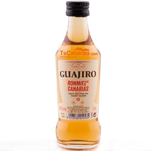 24 Mini bottles Honey Rum Guajiro 20% - Free Customized