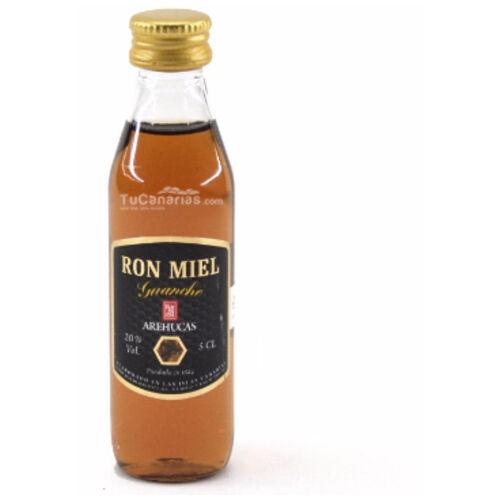 25 Honig Rum Arehucas Guanche Miniaturen - Frei Personalisierung
