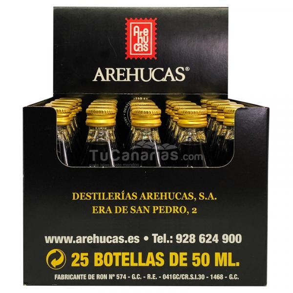 25 mini bottles Honey Rum Arehucas Guanche Miniature - Free Customized