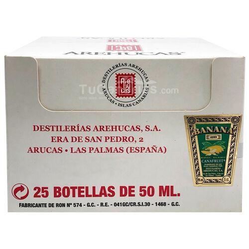 25 Banana Liqueur Arehucas Mini bottle - Free Customized