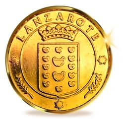 Lanzarote Heraldic Coin 24 Kt Gold plated
