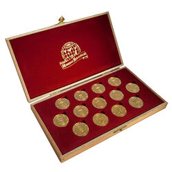 CLONADO 13 Coins - Unity coins CANARY ISLANDS 24k GOLD