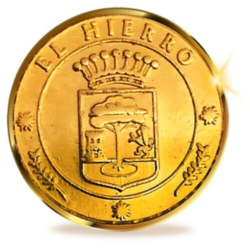 13 Unity Coins from El Hierro, Canary Islands. 24K Gold